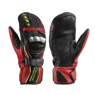 Leki 12 13 Варежки WC Racing Titanium S Mitten Black (9.5 13 Black/Red/Yellow ; 63380183)