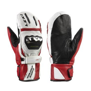 Leki 12 13 Варежки WC Racing Titanium S Mitten White (8 ; 13 ;White/Red/Black 63380193)