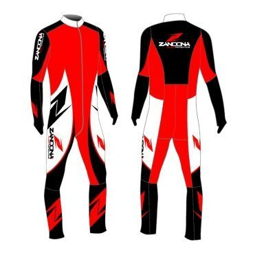 комбинезон детский ZANDONA KID RACING SUIT 10/12 (10/12, black/red/white 9230001012S2)