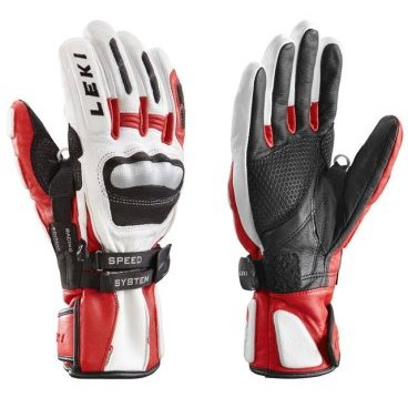 Перчатки Leki WC Racing GS S Racing Edition White/Red/Black (15/16 г, 631 80153)