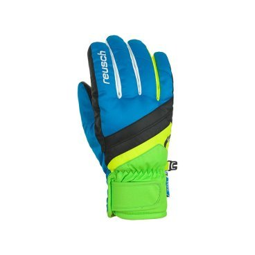 Перчатки Reusch Dario R-Tex® XT Junior , black / brilliant blue, 6,5 (17/18, 47 61 212)