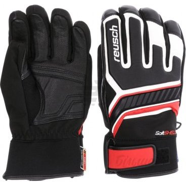 Перчатки Reusch Thunder R-TEX® XT black/ white/ fire red, 9 (17/18, 4601216_745)
