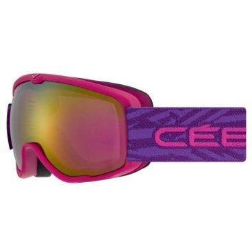 Маска горнолыжная детская CEBE ARTIC Mat Pink Purple Light Rose Flash Gold Cat 2, One Size (17/18, CBG167)
