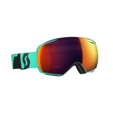 Маска горнолыжная Scott Linx teal green/solar red chrome, One Size (16/17, 244587-5275308)