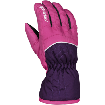 перчатки детские REUSCH ARON Junior hot pink/purple pennant (4 4161134)