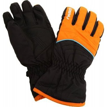 перчатки детские REUSCH ARON Junior orange popcicle/black (4 4161134)