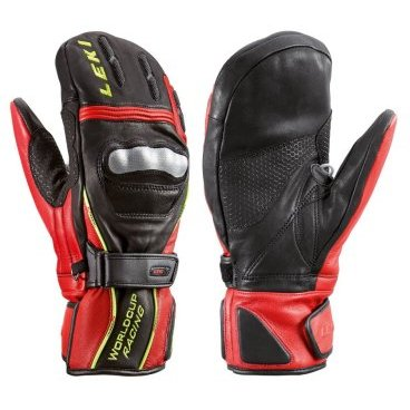 Варежки детские Leki WC Junior Pro Mitten Black/Red/Yellow 2014г (14г, 5.0 63 380 051)
