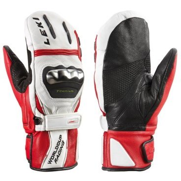 Варежки Leki WC Racing Titanium S Mitten White/Red/Black 2014г (14г, 7.5 63 380 193)