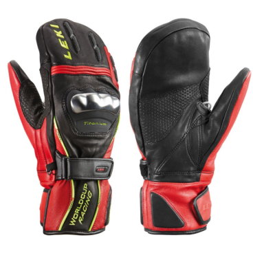 Варежки Leki WC Racing Titanium S Mitten Black/Red/Yellow (14г, 10.0 63 380 183)