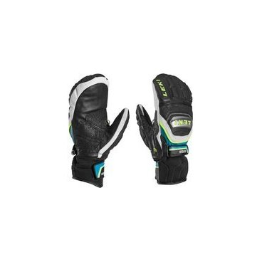 Варежки  Leki  WORLDCUP RACE TITANIUM S MITT black-white-cyan-yellow(15г,р-р 7,5 , 63 480 193)