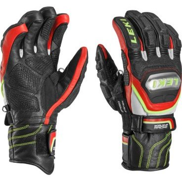 Перчатки  Leki WORLDCUP RACE TITANIUM S SPEED SYSTEM black-red-white-yellow(15г.р-р10 арт.63 480 303