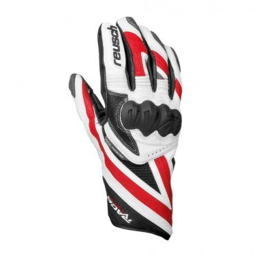 перчатки RACE-TEC 12 Giant Slalom , white / fire red, Men (14г, 8,5)