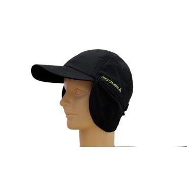 бейсболка FISCHER FLAP CAP EAR bl (black G88409)