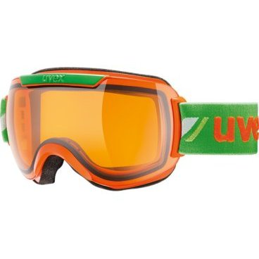 Очки горнолыжные UVEX downhill 2000 race Adult ski mask orange green (17г., р.UNI, 0112-3129)