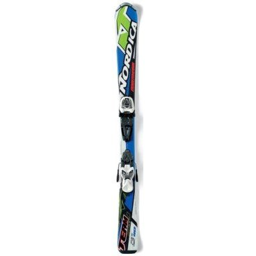 Горные лыжи Nordica Team J Race/M 4.5 Fastrak blue/lime(15/16 г, р- р100см, 0A3170 001+ 0C3138 100)