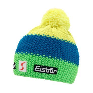 Шапка Eisbear Star Neon Pom MÜ SP kids lightgreen/bugatti/lightyellow,  (17/18, 407163-926)