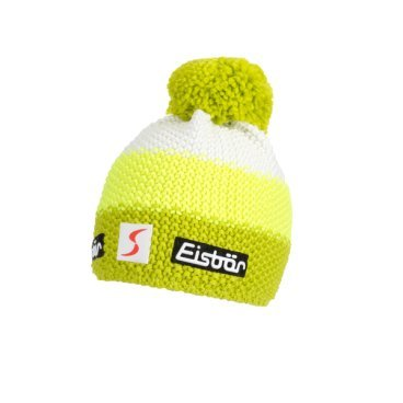 Шапка Eisbear Star Neon Pom MÜ SP kids lime/lightyellow/white,  (17/18, 407163-673)