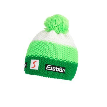 Шапка Eisbear Star Neon Pompon MÜ SP electric/lightgreen/white,  (17/18, 403336-963)