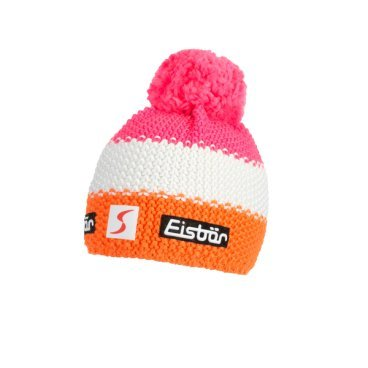 Шапка Eisbear Star Neon Pompon MÜ SP lightorange/white/lightpink,  (17/18, 403336-855)