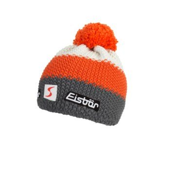 Шапка Eisbear Star Pompon MÜ SP anthrazit/darkorange/white,  (17/18, 403346-507)