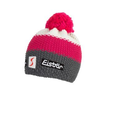 Шапка Eisbear Star Pompon MÜ SP kids anthrazit/pittipink/white,  (17/18, 407164-407)