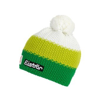 Шапка Eisbear Star Pompon MÜ SP kids electric/lime/white,  (17/18, 407164-663)