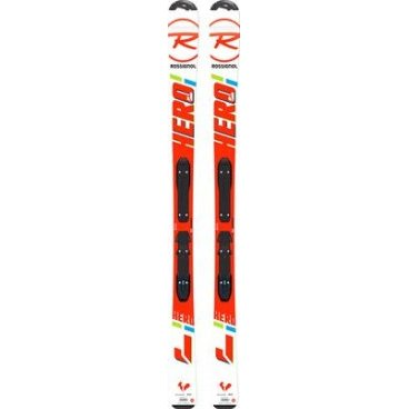 Горные лыжи с креплениями ROSSIGNOL HERO JR + KID-X 4 B76 BLACK/WHITE,  (17/18, RRF02JY+FCFK002)