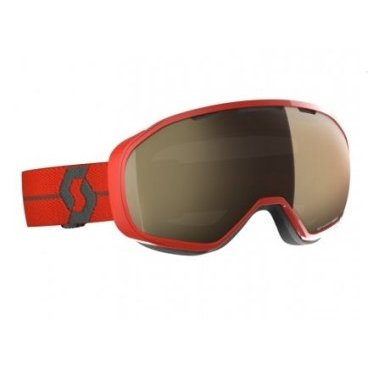 Горнолыжная маска Scott Fix LS red, light sensitive bronze chrome,TU (18/19, 267602-0004245)