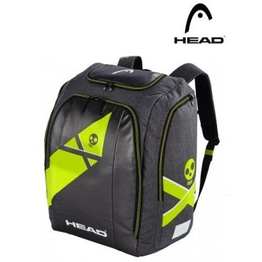 Рюкзак горнолыжный HEAD Rebels Racing backpack L 90 л. grey/neon yellow, One Size (18/19, 383038)