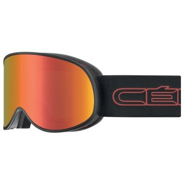 Маска горнолыжная CEBE ATTRACTION Matt Black Red, One Size (17/18, CBG173)