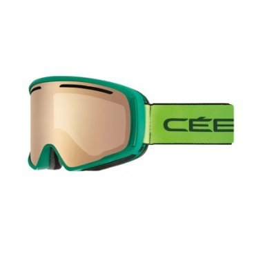 Маска горнолыжная CEBE CORE Mat Green Lime Brown Flash Mirror Cat 3, One Size (17/18, CBG145)