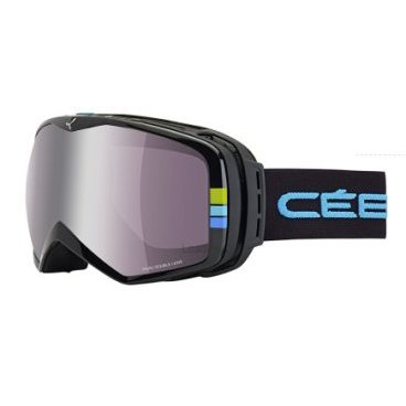Маска горнолыжня CEBE PEAK BLACK STRIPES, One Size (17/18, CBG3)