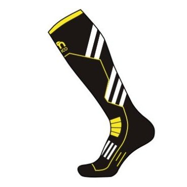 Носки горнолыжные MICO Performance ski nero giallo fluo (17/18, 246-604)