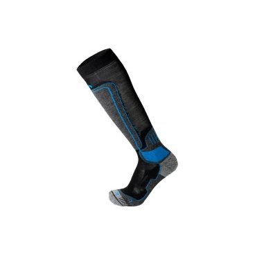 Носки горнолыжные MICO Ski technical sock in merino wool темносерые (17/18, 114-220)