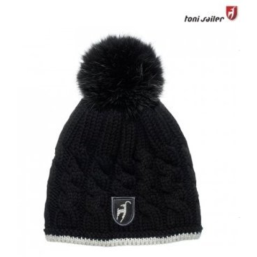 Шапка женская TONI SAILER SANDRINA FUR black, One size (16/17, TS262511F-100)