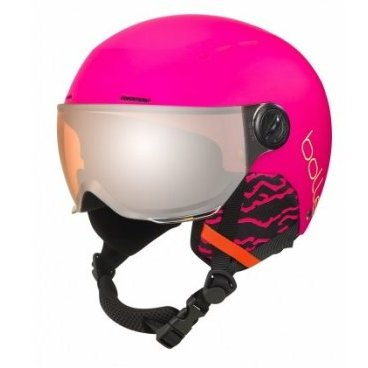 Шлем горнолыжный Bolle QUIZ VISOR MATTE PINK WITH ORANGE CAT 2 (18/19, 31766)